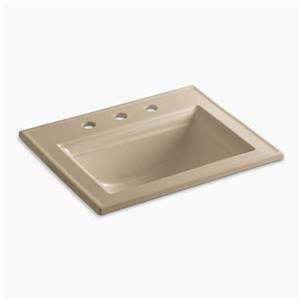 KOHLER Memoirs 22.75-in Mexican Sand Self-Rimming Sink with Stately Design