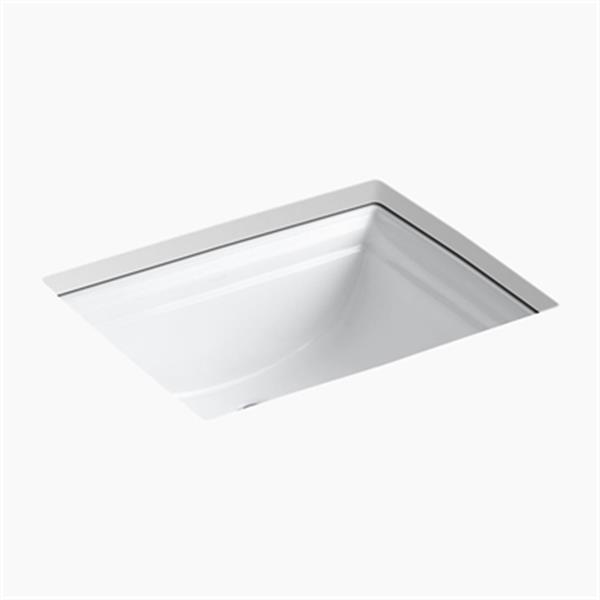 KOHLER Memoirs 20.68-in White Undercounter Sink