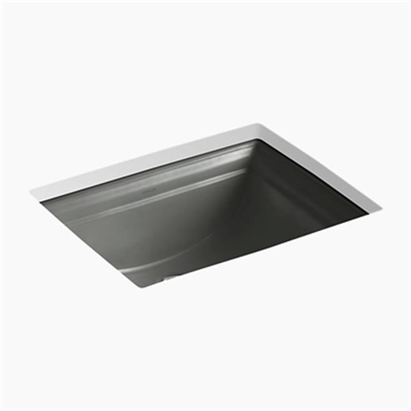 KOHLER Memoirs 20.68-in Thunder Grey Undercounter Sink
