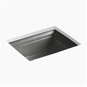 KOHLER Memoirs 20.68-in Thunder Grey Undercounter Sink