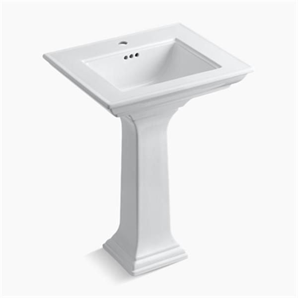 KOHLER 2344 Memoirs 24.5-in White Pedestal Lavatory Sink with Stately Design