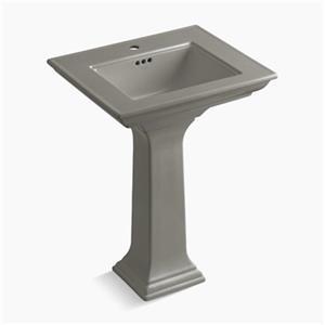 Kohler 2344 Memoirs 24.5-in Cashmere Pedestal Lavatory Sink with Stately Design