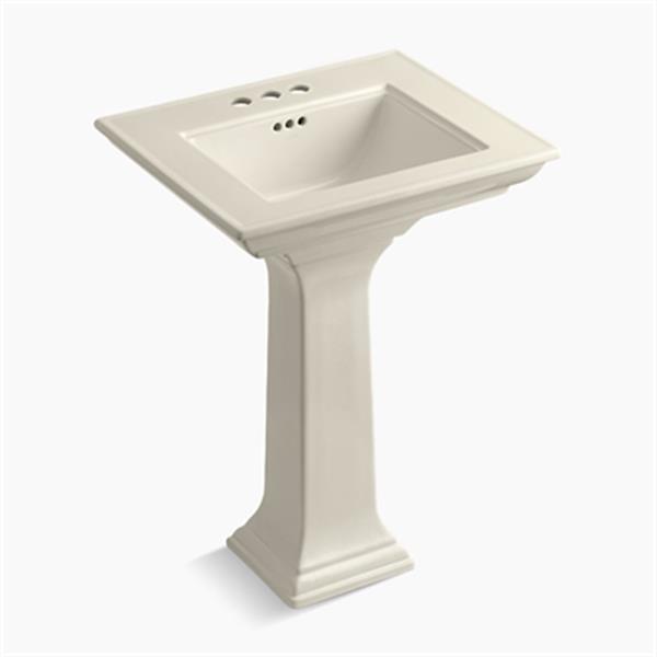 KOHLER 2344 Memoirs 24.5-in Almond Pedestal Lavatory Sink with Stately Design