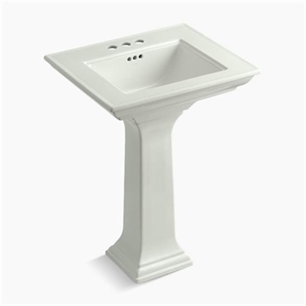 KOHLER 2344 Memoirs 24.5-in Dune Pedestal Lavatory Sink with Stately Design