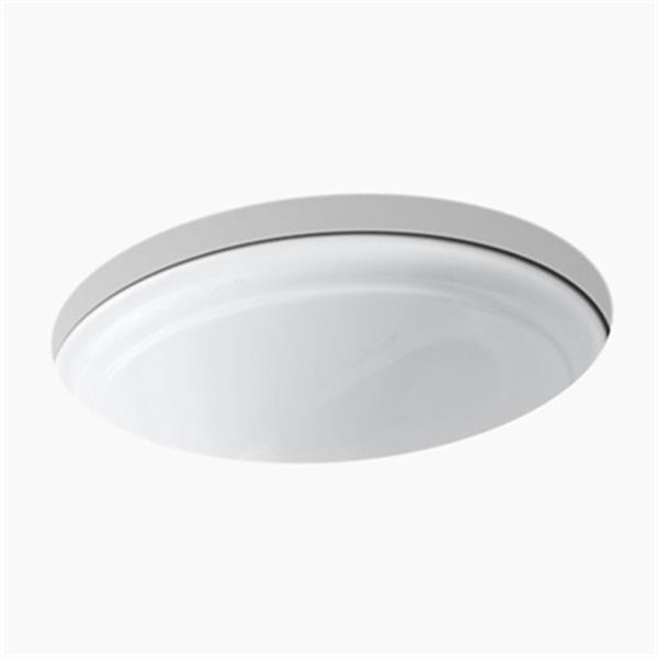 KOHLER Devonshire 18.38-in White Undercounter Lavatory Sink