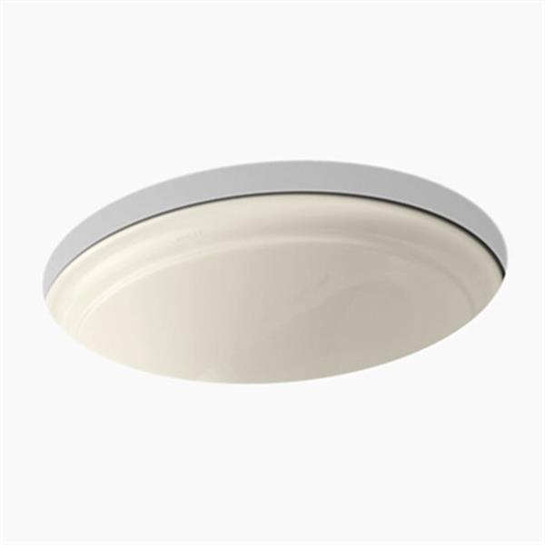 KOHLER Devonshire 18.38-in Almond Undercounter Lavatory Sink