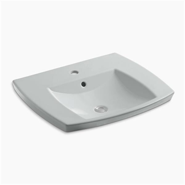 KOHLER Kelston 5.31-in x 23.43-in Ice Grey Self-Rimming Sink
