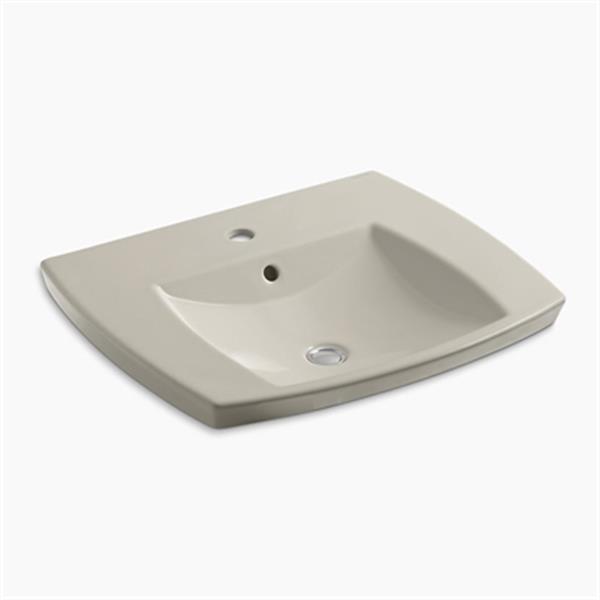 KOHLER Kelston 5.31-in x 23.43-in Sandbar Self-Rimming Sink