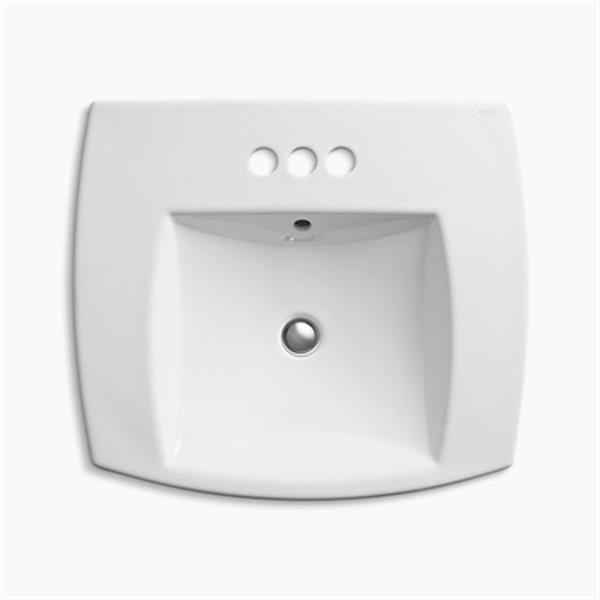 KOHLER Kelston 5.31-in x 23.43-in White Self-Rimming Sink