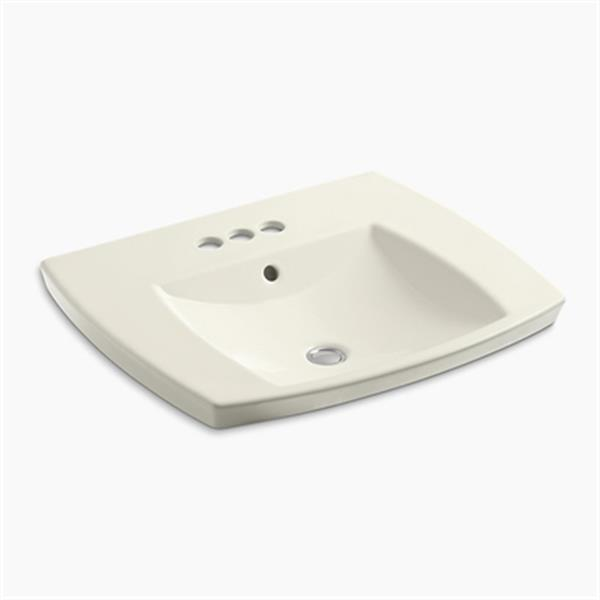 KOHLER Kelston 5.31-in x 23.43-in Biscuit Self-Rimming Lavatory Sink