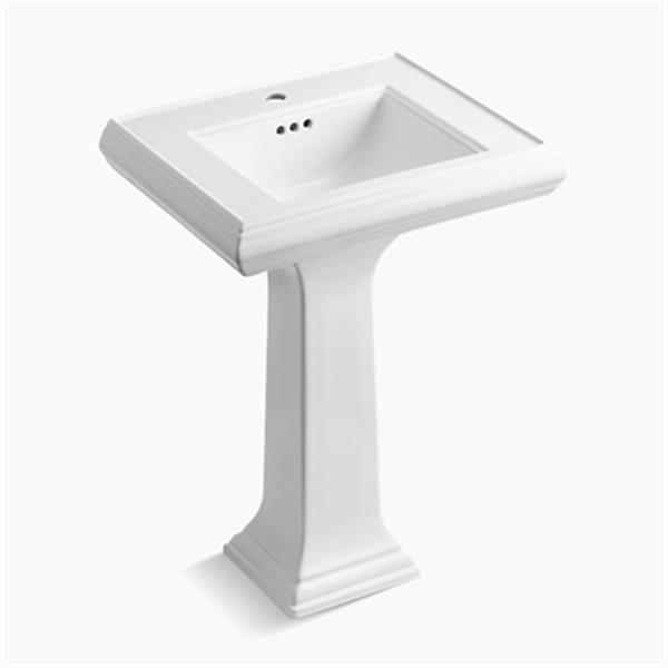 KOHLER Memoirs 24-in x 34.38-in White Pedestal Sink