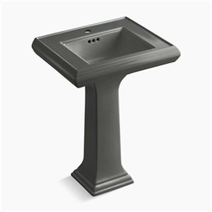 Kohler Co. Memoirs 34.38-in x 24-in Thunder Grey Fire Clay Pedestal and Sink