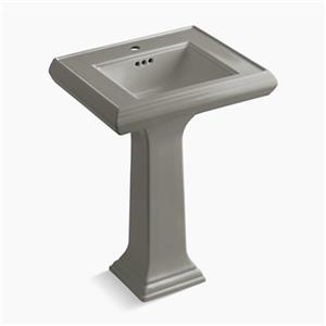 KOHLER Memoirs 34.38-in x 24-in Cashmere Fire Clay Pedestal and Sink