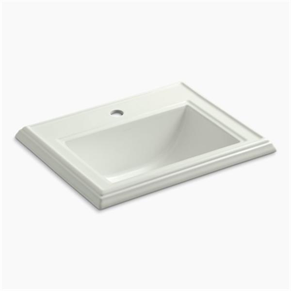 KOHLER Memoirs 2.75-in x 8.75-in Off White Rectangular Self Rimming Sink