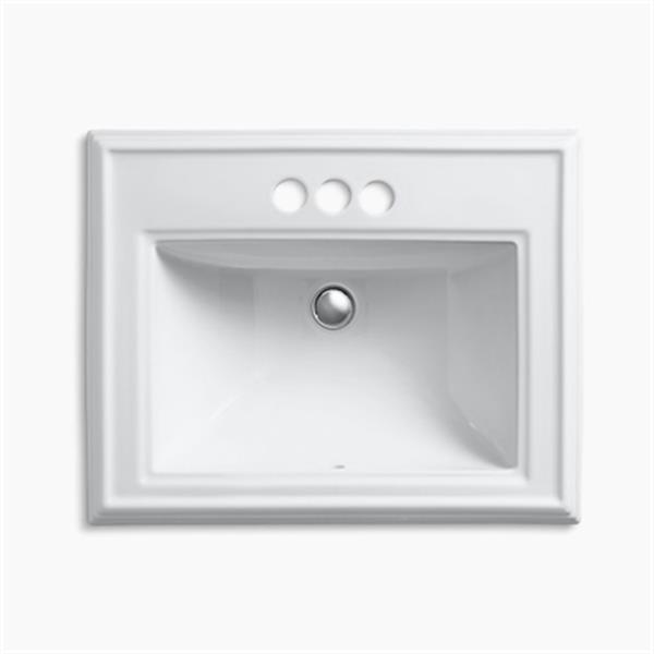 KOHLER Memoirs 2.75-in x 8.75-in White Rectangular Self Rimming Sink