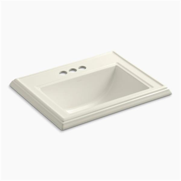 KOHLER Memoirs 2.75-in x 8.75-in Biscuit Rectangular Self Rimming Sink