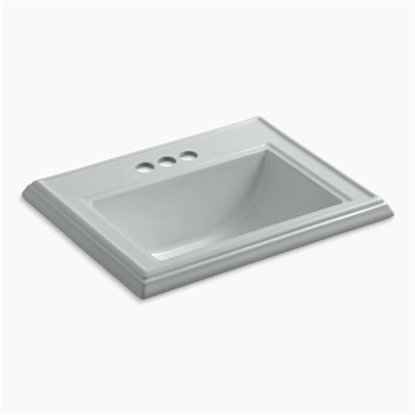 KOHLER Memoirs 2.75-in x 8.75-in Ice Grey Rectangular Self Rimming Sink
