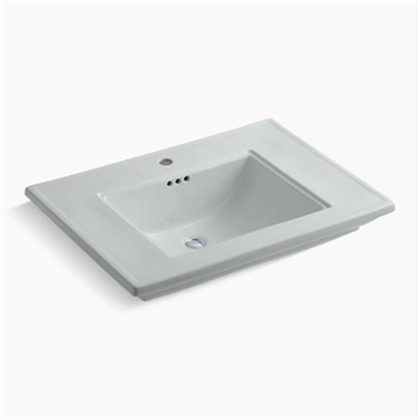 KOHLER Memoirs 30-in x 8.63-in Ice Grey Fire Clay Above Counter Rectangular Sink