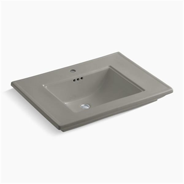 KOHLER Memoirs 30-in x 8.63-in Cashmere Fire Clay Above Counter Rectangular Sink
