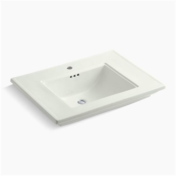 KOHLER Memoirs 30-in x 8.63-in Off White Fire Clay Above Counter Rectangular Sink
