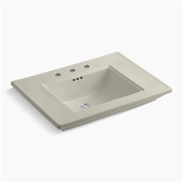 KOHLER Memoirs 30-in x 8.63-in Sandbar Fire Clay Above Counter Rectangular Sink