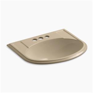 Kohler Co. Devonshire 19.75-in x 8-in Mexican Sand Porcelain Self Rimming Sink