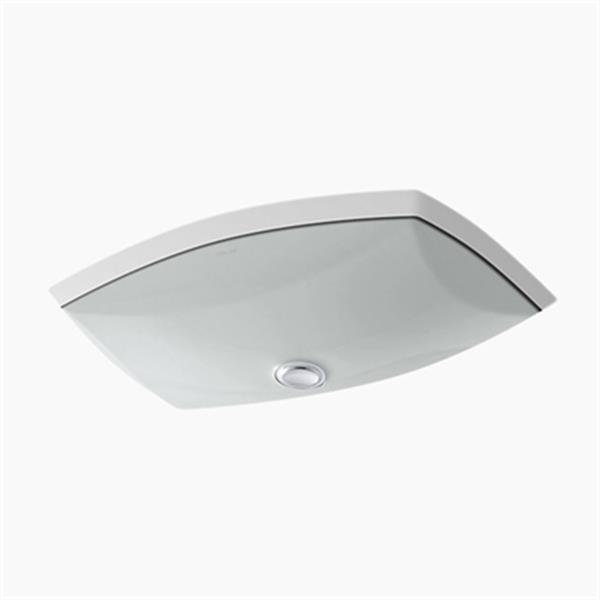 KOHLER Kelston 20.38-in x 5-in Ice Grey China Fire Clay Under Counter Sink