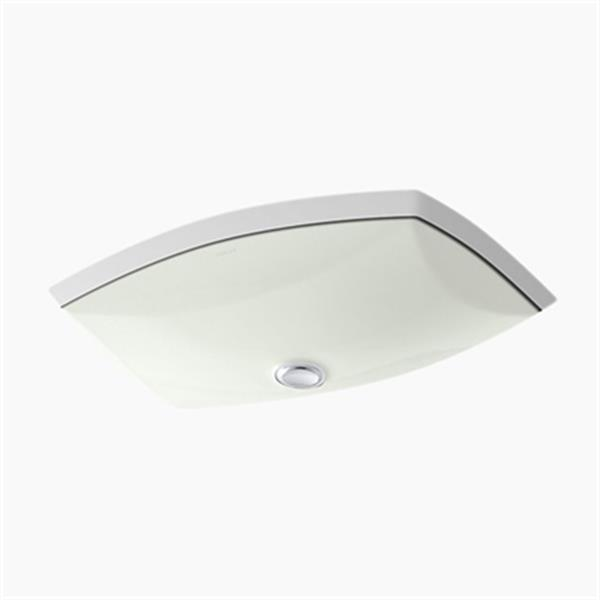 KOHLER Kelston 20.38-in x 5-in Off White China Fire Clay Under Counter Sink