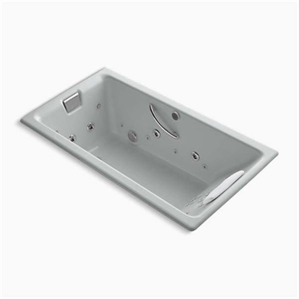 KOHLER 66-in x 36-in Drop-in Effervescence + Whirlpool with Spa/Package