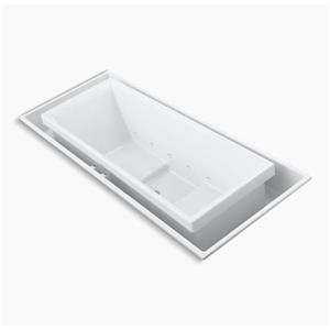 KOHLER 104-in x 41-in Drop-in Whirlpool + Effervescence with Center Drain