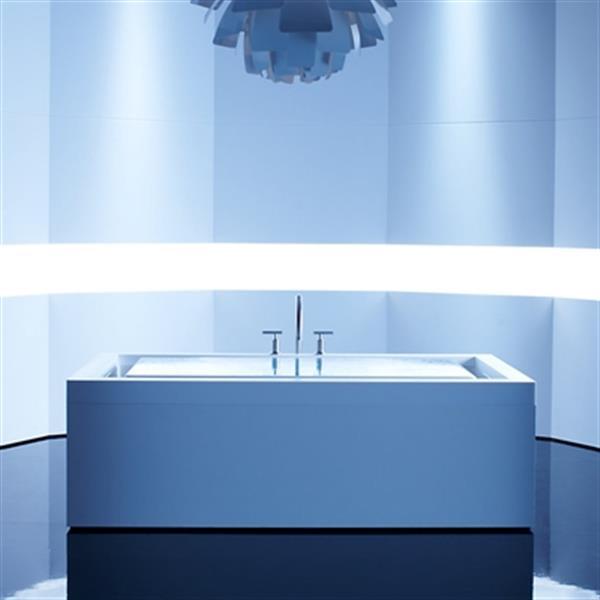 KOHLER 75-in x 41-in Drop-in Effervescence Bath with Chromatherapy