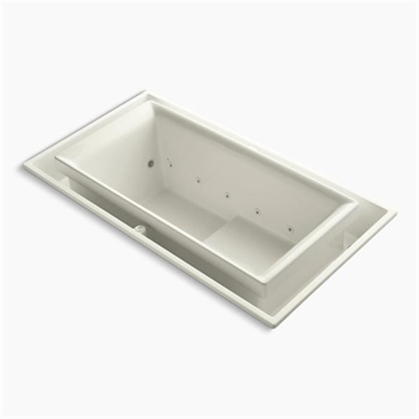 KOHLER 75-in x 41-in Drop-in Effervescence Bath with Chromatherapy