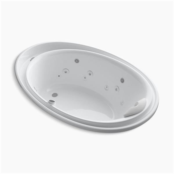 KOHLER 72-in x 46-in Drop-in Effervescence + Whirlpool with Spa/Massage Package