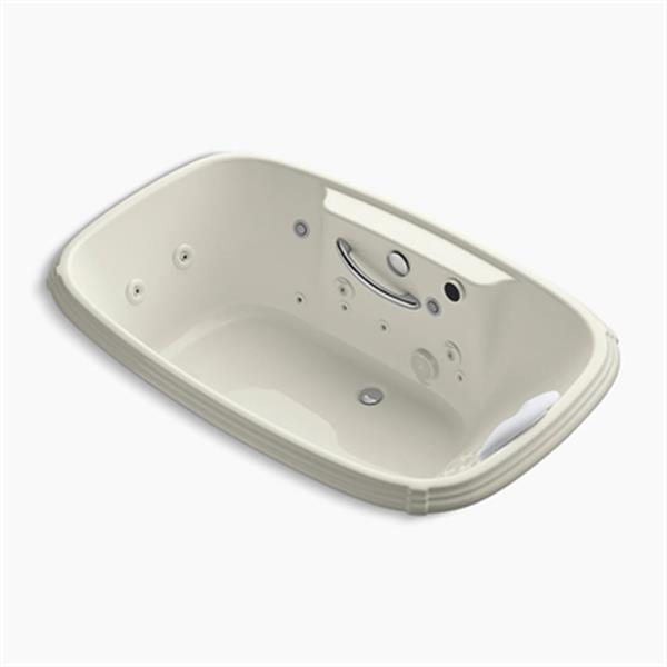 KOHLER 67-in x 42-in Drop-in Effervescence + Whirlpool with Spa/Massage Package