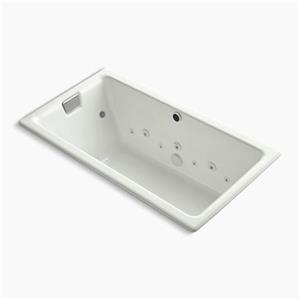 KOHLER 66-in x 36-in Drop-in Effervescence Bath Whirlpool with Spa Package