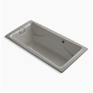 KOHLER BubbleMassage Air Bath 72-in x 36-in Drop-in Bath with Vibrant Brushed Nickel Airjet Finish