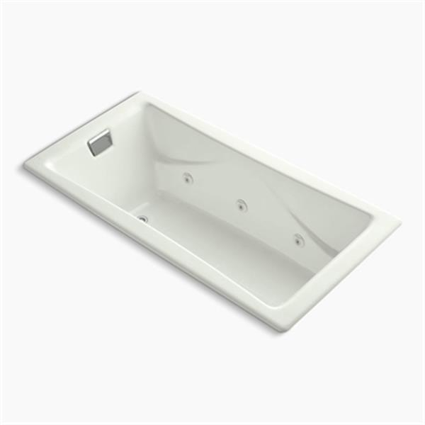 KOHLER 72-in x 36-in Drop-in Whirlpool with Reversible Drain, Custom Pump Location and Heater without Trim