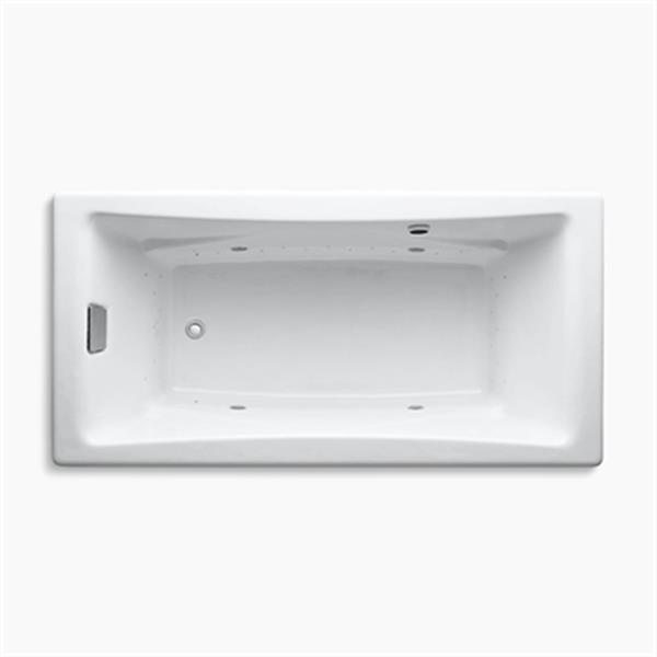 KOHLER BubbleMassage Air Bath 72-in x 36-in Drop-in Bath with Airjet