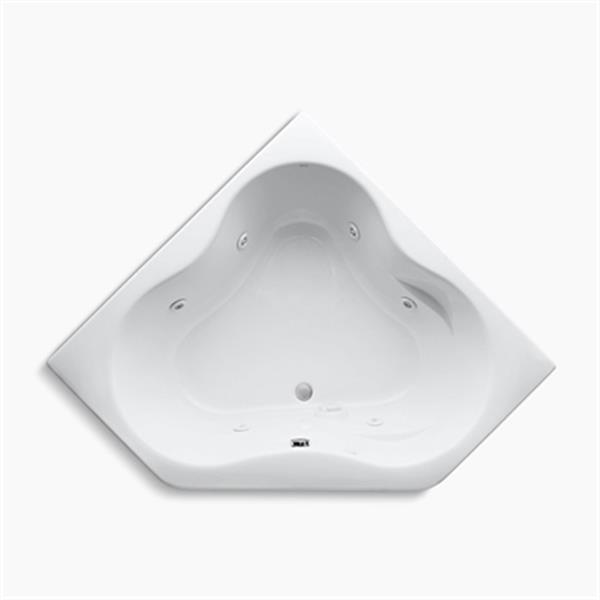 KOHLER 54-in x 54-in Drop-in Whirlpool with Custom Pump Location