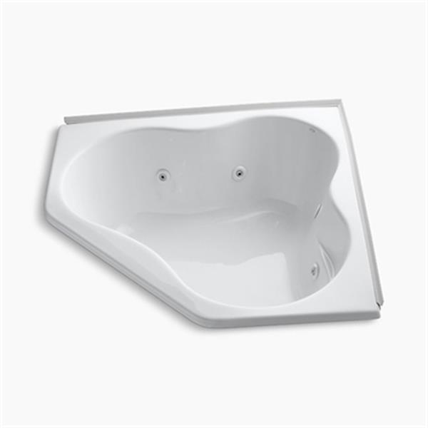 KOHLER 54-in x 54-in Alcove Whirlpool with Tile Flange and Heater