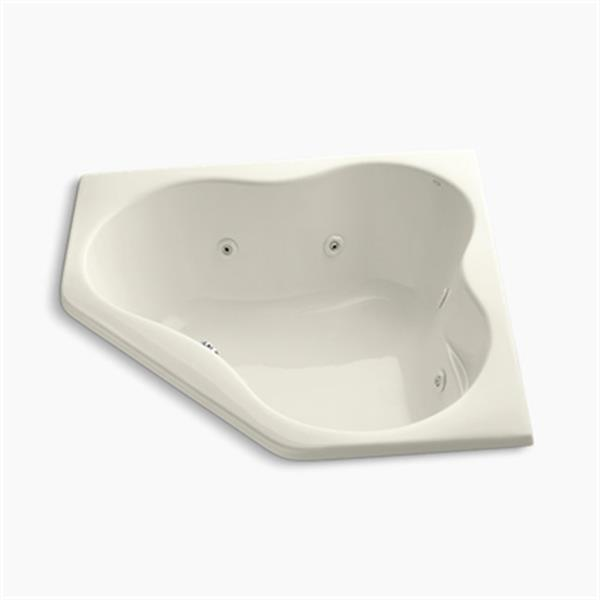 KOHLER 54-in x 54-in Drop-in Corner Whirlpool with Heater