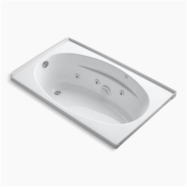 KOHLER 60-in x 36-in Alcove Whirlpool with Flange
