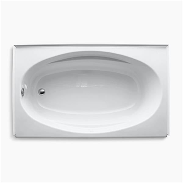 KOHLER 60-in x 36-in Alcove Bath with Tile Flange