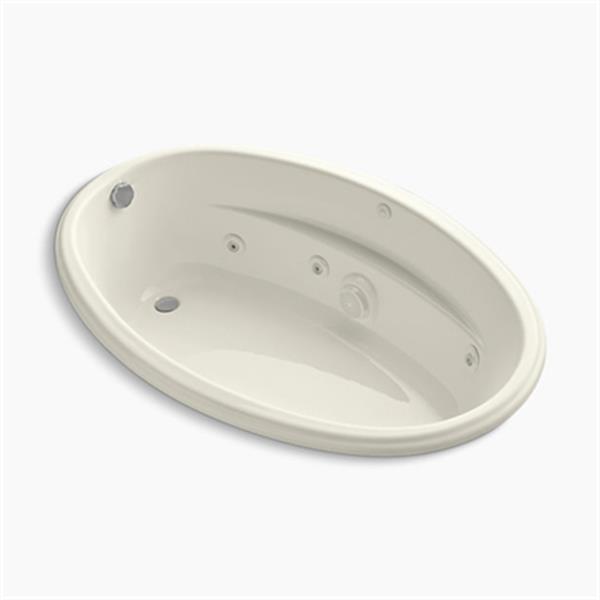 KOHLER 60-in x 40-in Drop-in Whirlpool with Heater