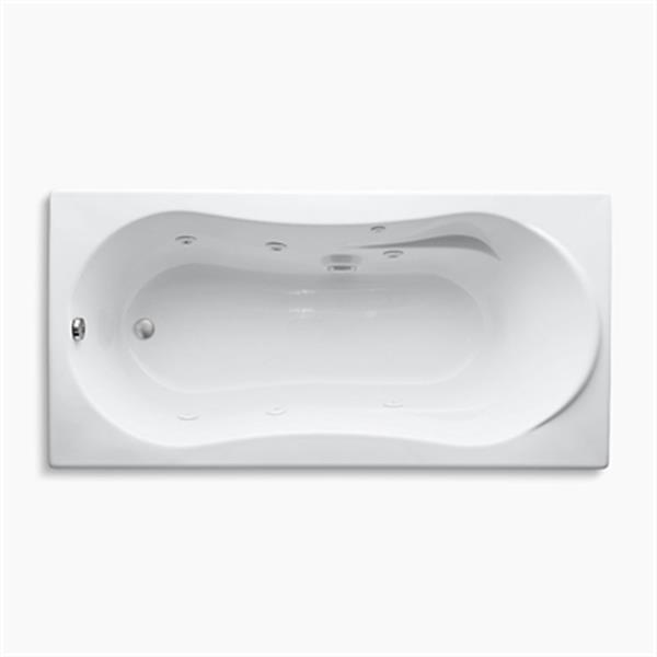 KOHLER 72-in x 36-in Drop-in Whirlpool with Custom Pump Location