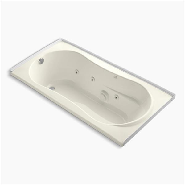 KOHLER 72-in x 36-in Alcove Whirlpool with Tile Flange with Heater