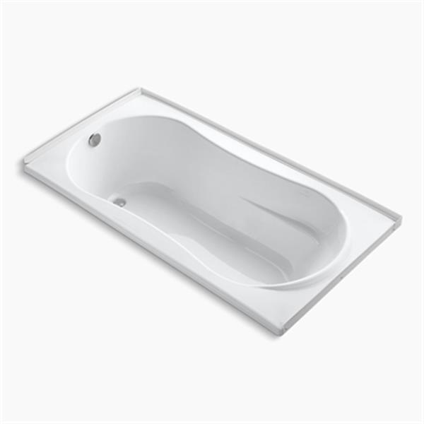 KOHLER 72-in x 36-in Alcove Bath with Flange and Drain