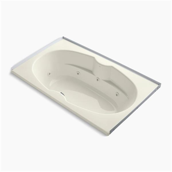 KOHLER 72-in x 42-in Alcove Whirlpool with Tile Flange
