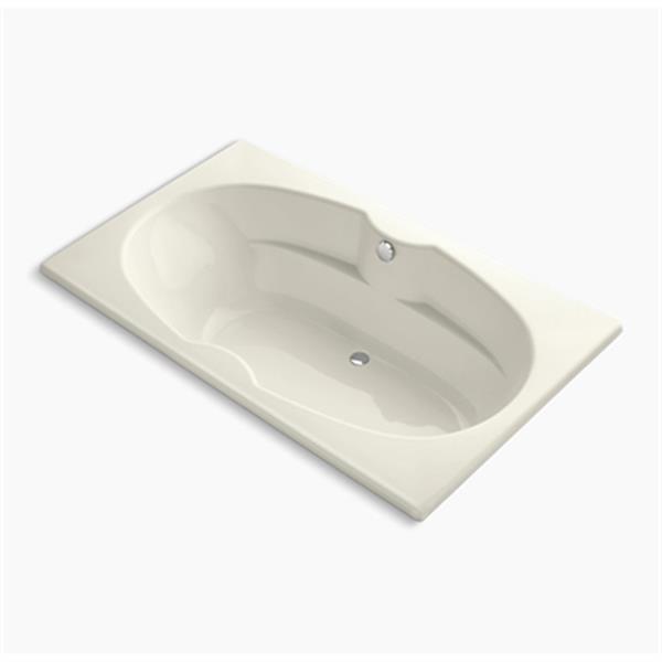 KOHLER 72-in x 42-in Drop-in Bath with Reversible Drain