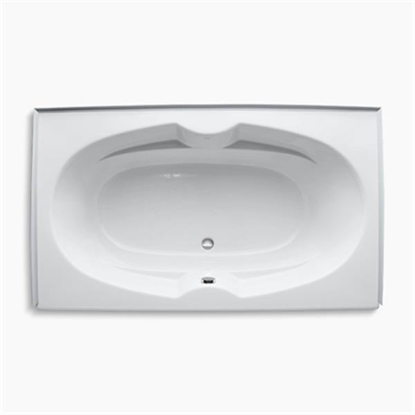 KOHLER 72-in x 42-in Alcove Bath with Tile Flange